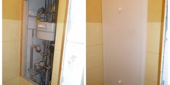 Plastový kryt do bytového jadra